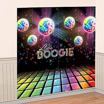 Disco 70's Scene Setter Wall Decorating Kit | 2pc