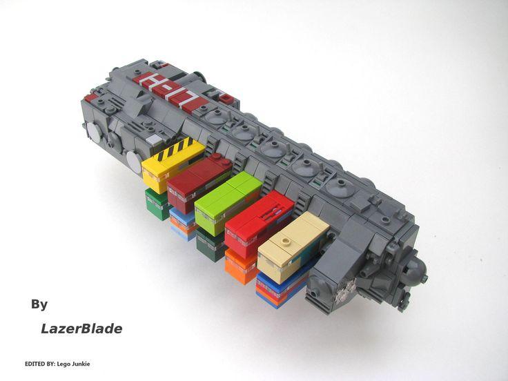 화물이 한쪽만 실린 예 My Favourite Spaceships in the World Aren't in Games, or Movies, but LEGO