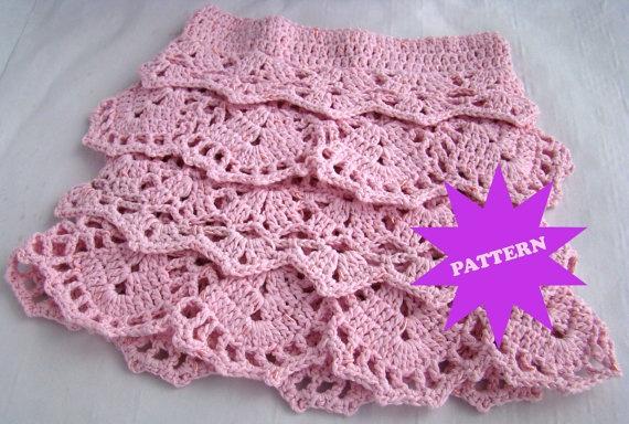 Ruffle skirt pattern crochets Pinterest Kids ...