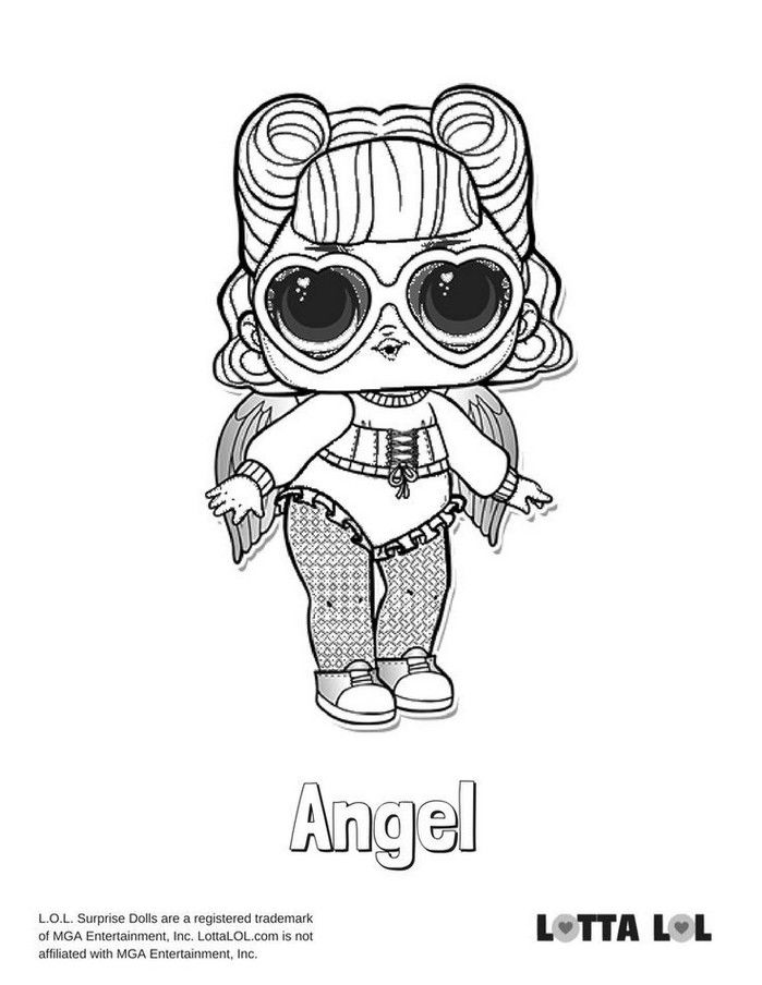 Lol Surprise Coloring Pages Fresh Lol Doll Coloring Pages Fresh 20 Lol Dolls Coloring Pages Stock Of Lo Angel Coloring Pages Coloring Pages Cute Coloring Pages