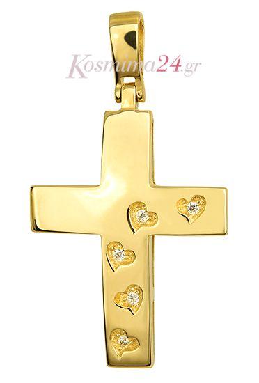 Βαπτιστικός Χρυσός Σταυρός 14Κ 015242