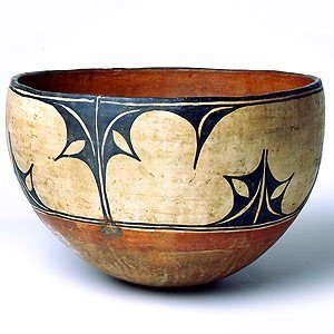 American Indian BOWL New Mexico, USA. Painted, coiled via Textile Design and Designers Platform facebook