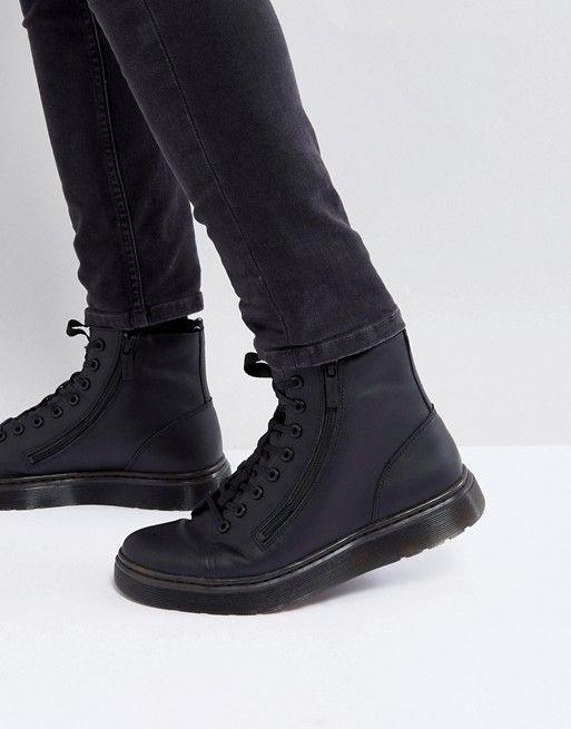 09365d6c4 Asos Black Boots Men Dr Martens Talib Zip Boots In Black | Asos ...