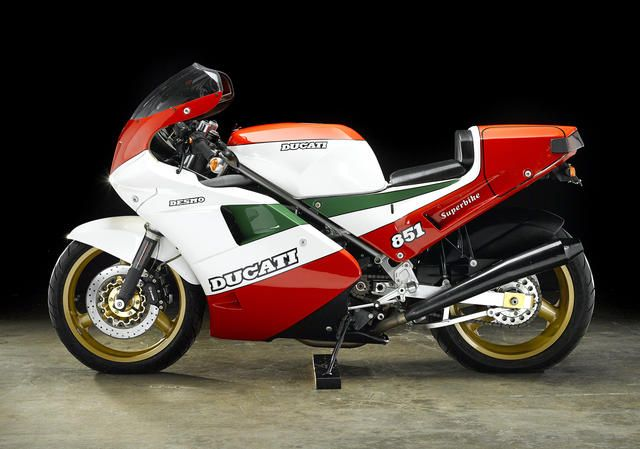 "One of 207 homologation ""kit bikes"",1988 Ducati 851 Tricolore Frame no. ZDM3HB6T6JB850034 Engine no. HB6J850032"
