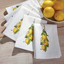 Linen Lemon Napkins in {productContextTitle} from {brandTitle} on shop.CatalogSpree.com, your personal digital mall.