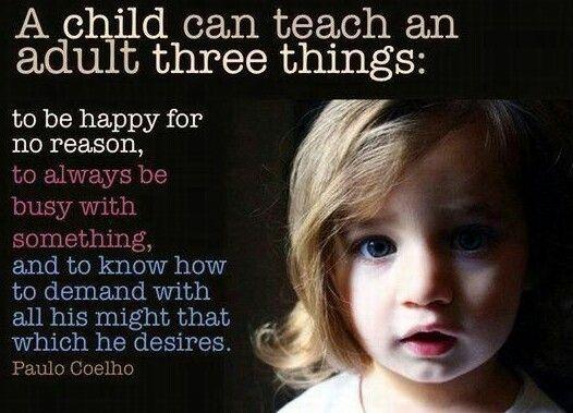 A child teaches