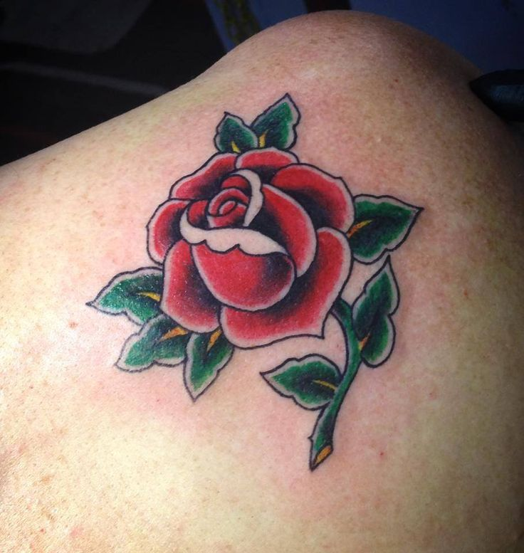 Rose Tattoos With Words Google Search: Traditional American Tattoo Roses