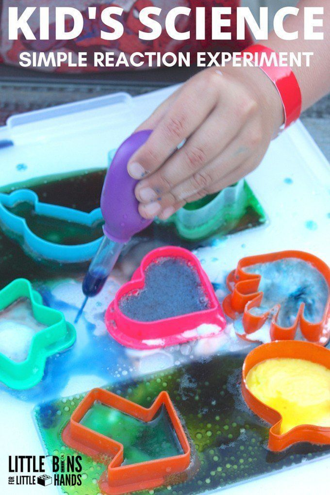 Simple kids science activity with baking soda and vinegar for easy home science experiments. Best science for preschool and kindergarten age kids!