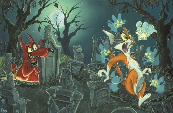 Stephanie Buscema Provides Kickstarter Exclusive Cover For Paul Dini'Now we s Boo & Hiss