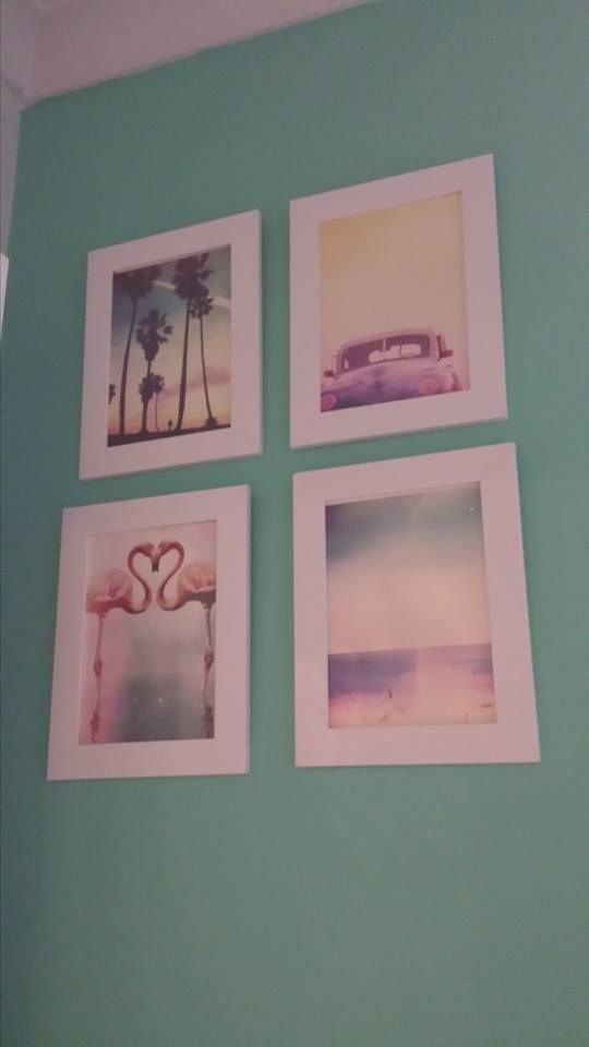 Cards purchased from Typo and framed in Ikea $2 frames