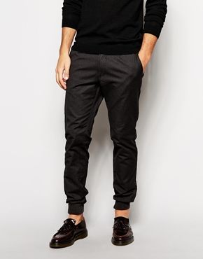 United Colors Of Benetton Chino Jogger With Cuffed Hem In Slim Fit