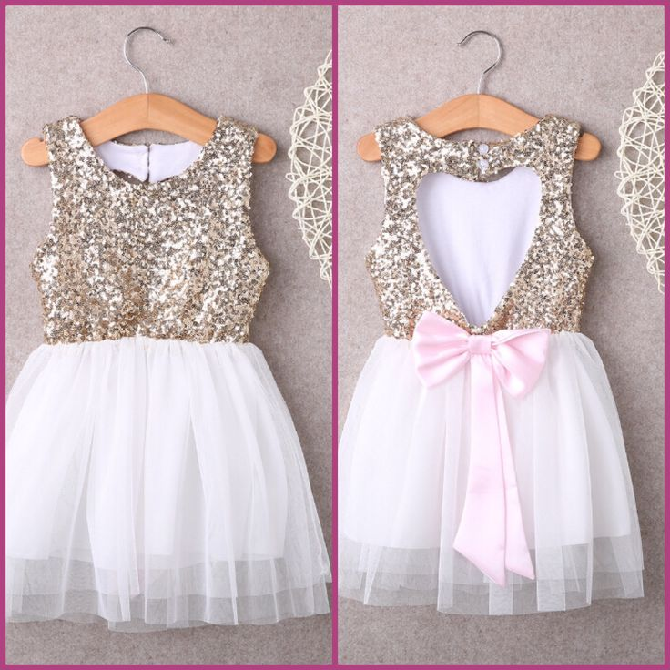Sparkles in hearts girl dress for birthdays and photos!