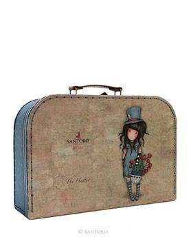 Gorjuss The Hatter Large Suitcase Box   Santoro London