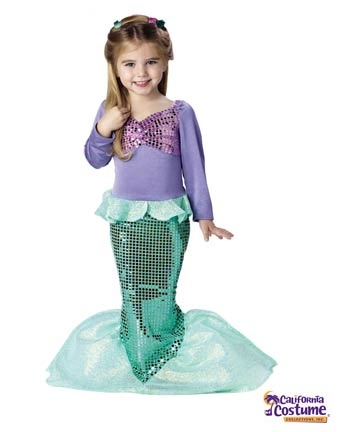 Lil` Mermaid Toddler Costume | Infant/Toddler Mermaids Halloween Costumes