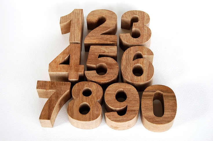 REDUCED Wooden Toy Chunky Numbers - Set. €35.00, via Etsy.