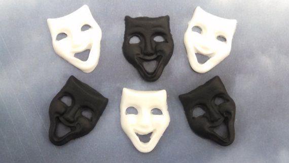 Edible Fondant Theatre Masks-Fondant Mardi Gras by KandyKoncepts