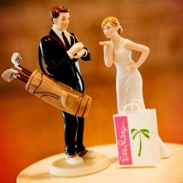 Funny Wedding Cake Toppers Golf So Perfect A Lilly And Topper