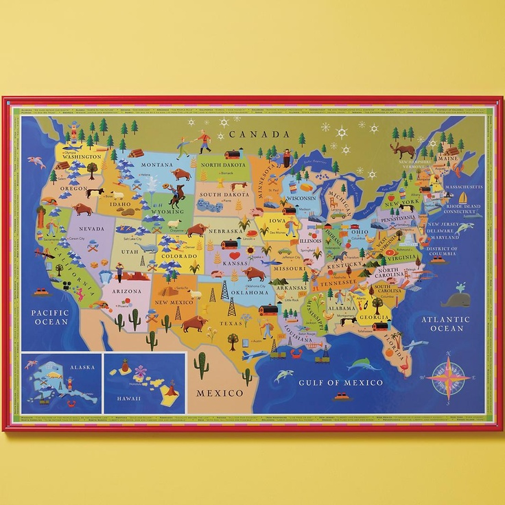 Best The United States Of Creative Images On Pinterest - Us and mexico map for kids