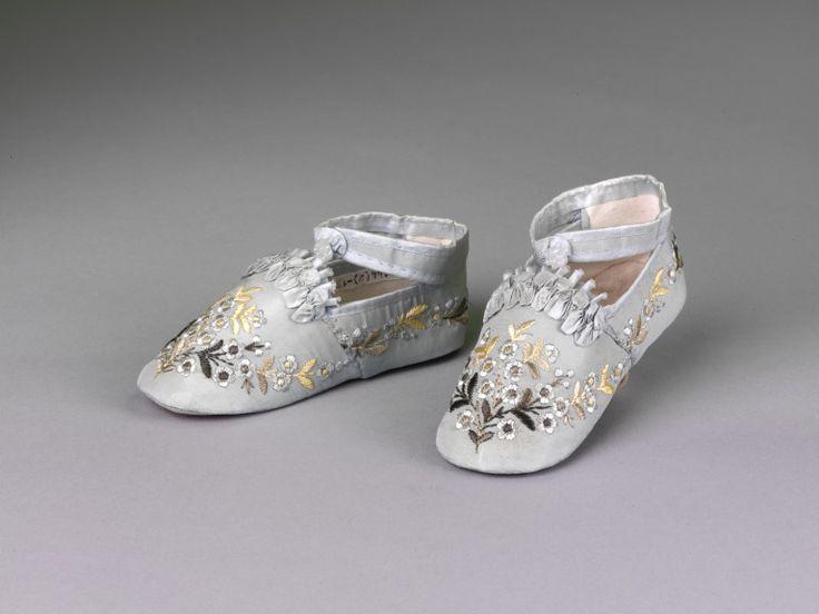 Baby Slippers, 1880s, via The Victoria & Albert Museum.