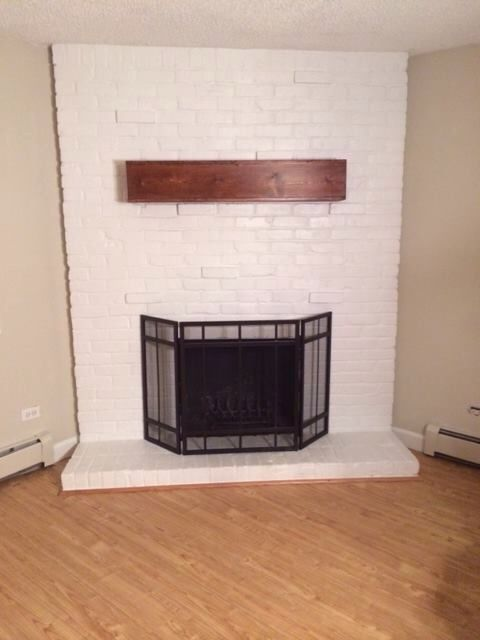 diy fireplace mantel rent pinterest