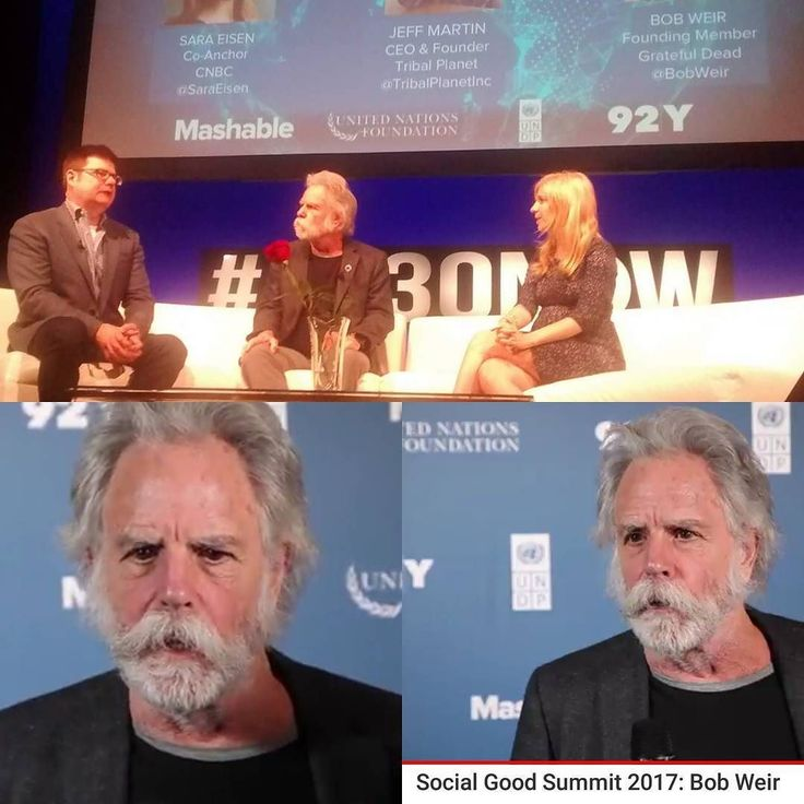 Watch Bob Weir speaking on Climate Change and our Future at the Social Good Summit 2017  Bob Weir has been appointed United Nations Development Program (UNDP) Goodwill Ambassador.  http://ift.tt/2yiKLbY