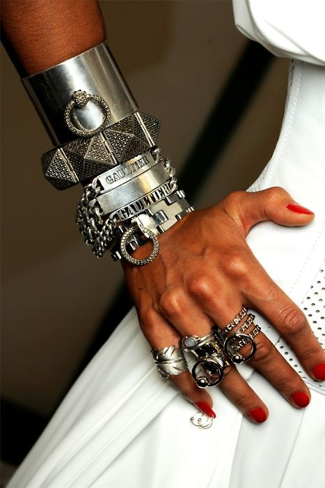 hermes Armor: Arm Candy, Arm Party, Silver Bracelets, Jeans Paul Gaultier, Rings, Bangles, Cuffs, Accessories, Heavy Metals