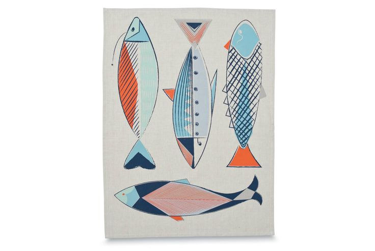 Brighten up the kitchen with the beautiful Neptune tea towel from Citta Deigns' Greece collection.