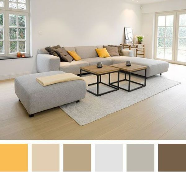 To get the best color combination in the living room, a ...