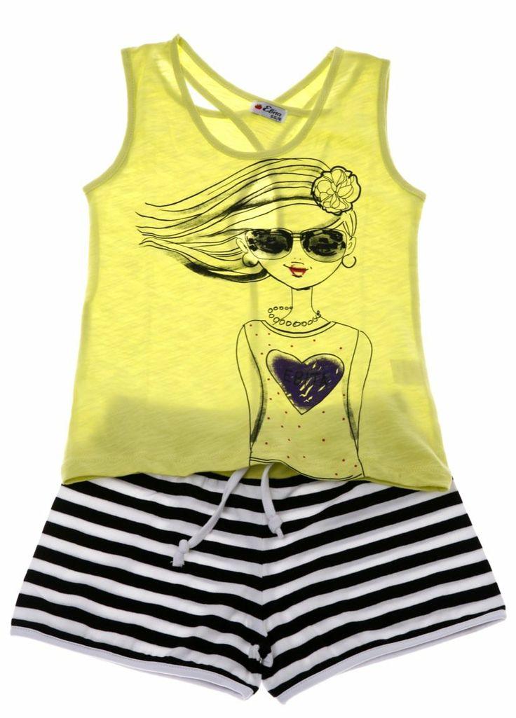 Εβίτα παιδικό σετ μπλούζα-παντελόνι σορτς «Lady In Love»  €13,00