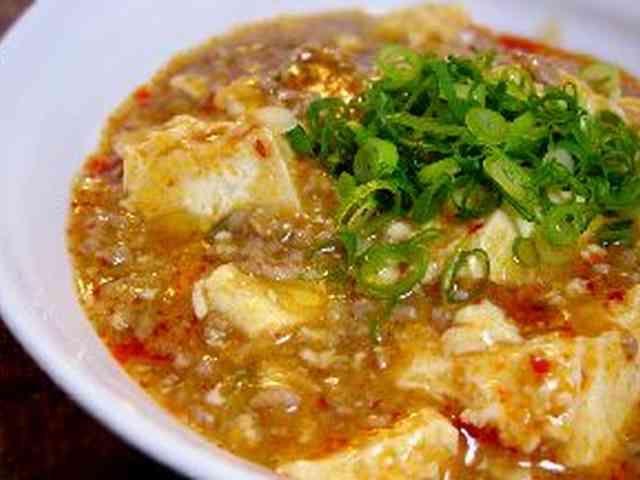 定番おいしい麻婆豆腐 挽肉の代りにそいミートかきのこのみじん切り