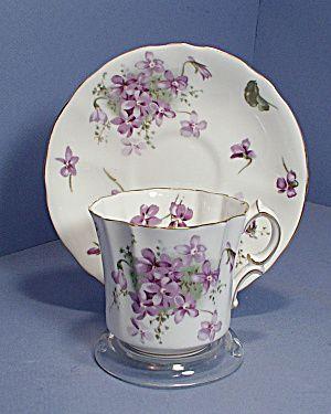 Hammersley Victoria Violets Tea Cup & Saucer