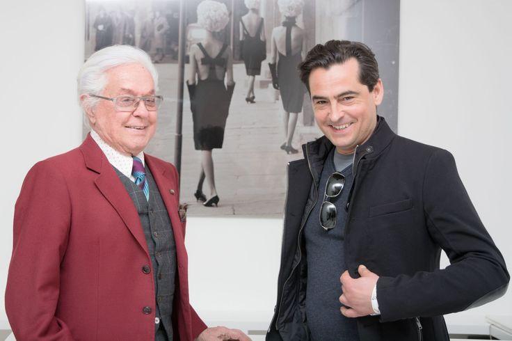 Maestro Roberto Capucci and Luca Ramelli