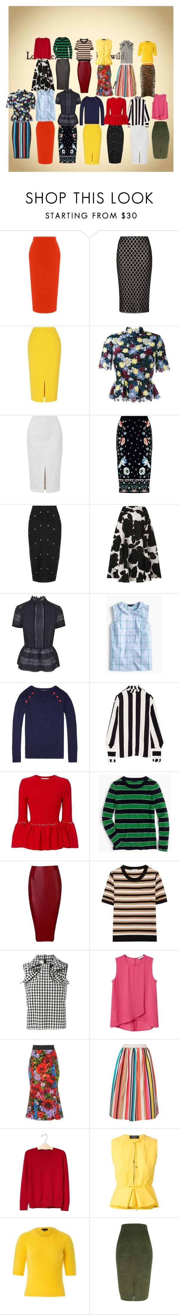 """The Office Hit List"" by xkaboq on Polyvore featuring Roland Mouret, Dorothy Perkins, Versace, Erdem, Ted Baker, Fenn Wright Manson, Topshop, Phase Eight, Perseverance London and J.Crew"