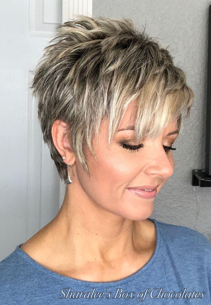 Remark coiffer une coupe plus longue Pixie – Grand fashion pour les femmes matures