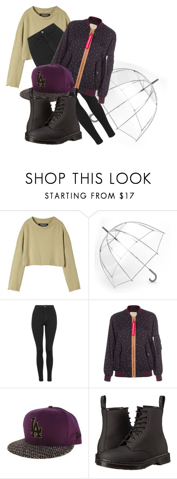 """""""Entourage"""" by chelsofly on Polyvore featuring adidas Originals, Totes, Topshop, Paul Smith, New Era, Dr. Martens, women's clothing, women's fashion, women and female"""