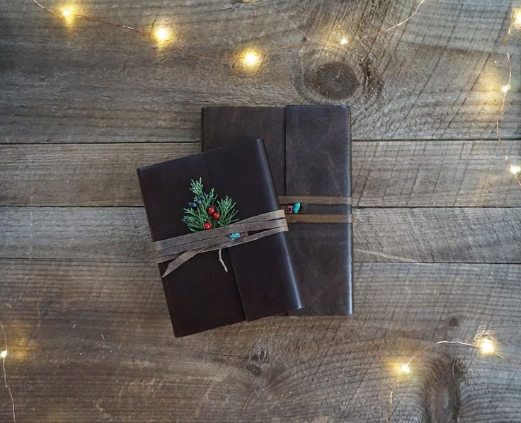 Leather Journals from JenniBick.com - add custom name embossing for a perfect gift
