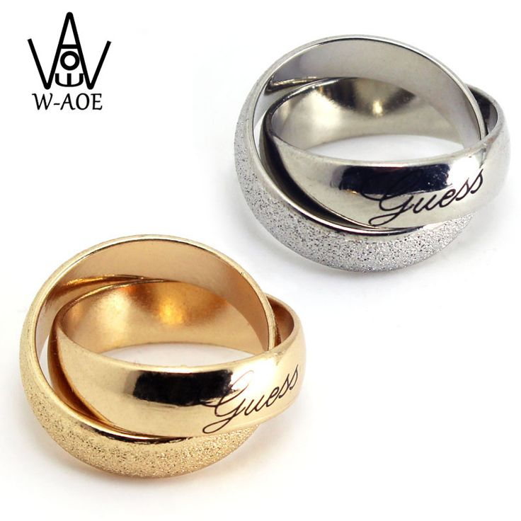 2017 Hot Sale Brand Fashion Jewelry Gold Plated Frosted Couple Ring Wedding Rings For Men and Women Double Rings Party Gift