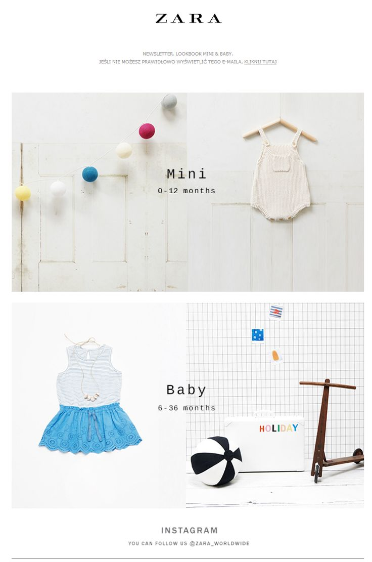 Zara poster design - Zara For Baby Newlsetter Email Design Www Datemailman Com