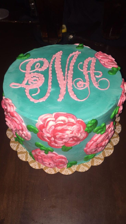 Lily Pulitzer 20th Birthday Cake!