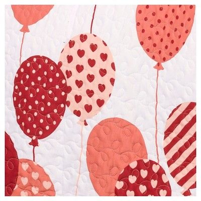 Flying Balloon Quilt Set (Full/Queen) Pink 3 pc - Lush Décor