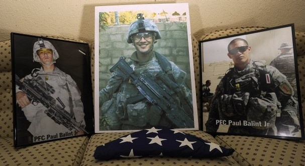 Army PFC Paul Balint Jr., died while on patrol in Iraq on Dec. 15, 2006   (Abilene Reporter News, May 28, 2011)