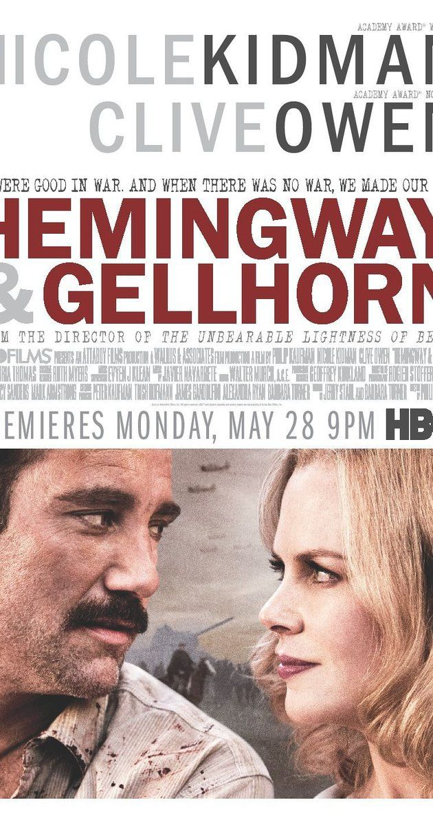 A drama centered on the romance between Ernest Hemingway and WWII correspondent Martha Gellhorn, Hemingway's inspiration for For Whom the Bell Tolls and the only woman who ever asked for a divorce from the writer. 6/10 Trailer https://www.youtube.com/watch?v=pWFuQlLqqZk