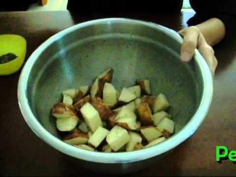 Receta de Papas al horno con queso parmesano y perejil / Parselle parmesan potatos