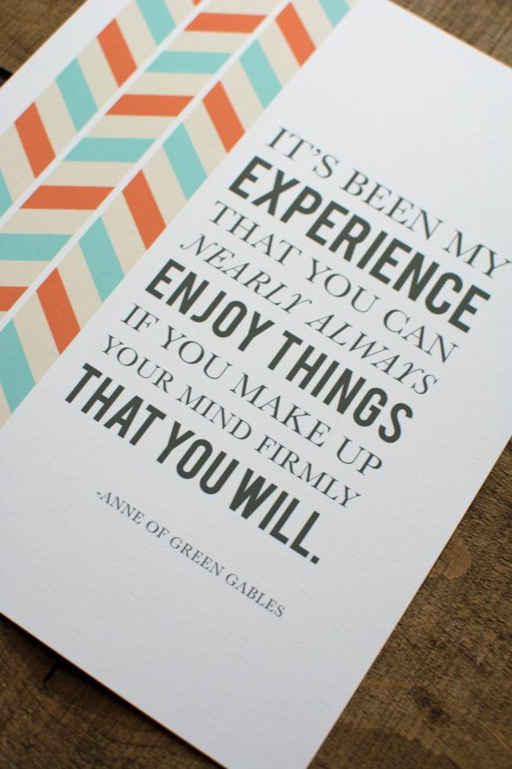 Anne Of Green Gables Quote Print By Snailmaildesignshop On