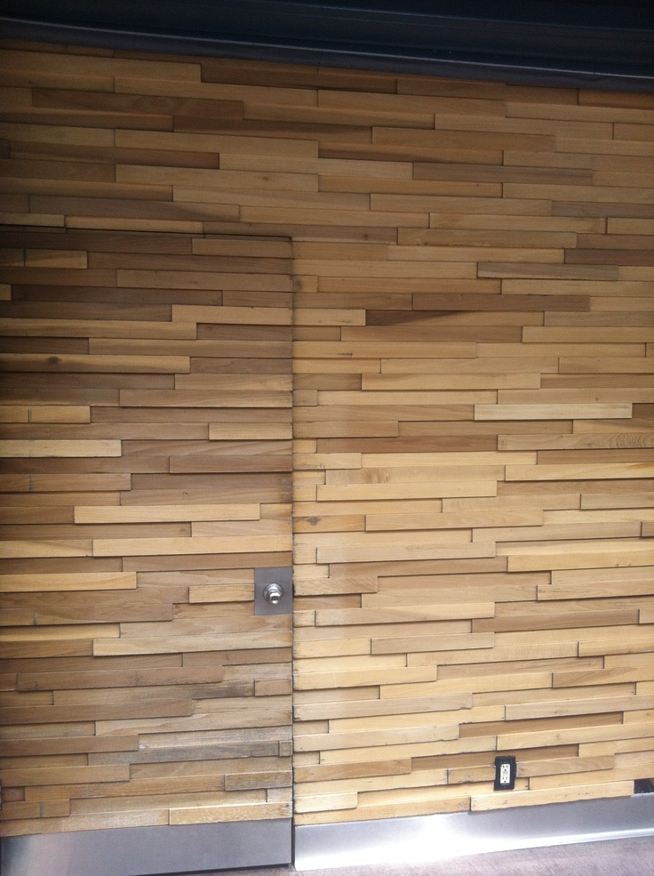 Wood Wall Treatment Slats In 3 Dimensions Contemporary