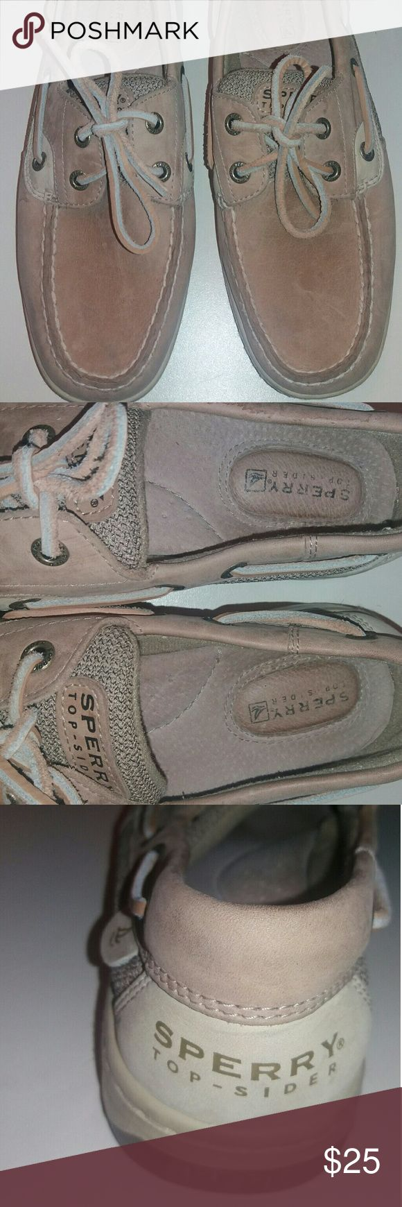 SPERRY TOP SIDER SHOES Sperry's top sider tan leather boat shoes (one time wear) Sperry Top-Sider Shoes Flats & Loafers
