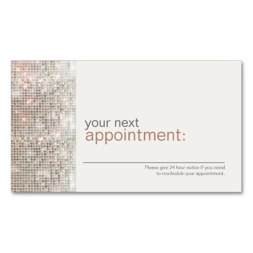 Modern and Hip Business Sequin Appointment Card 1 Business Card. Make your own business card with this great design. All you need is to add your info to this template. Click the image to try it out!