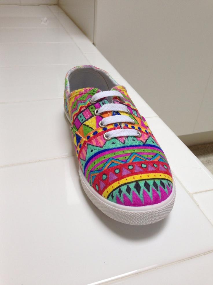 Fiesta shoe made with sharpie by kelseylandd