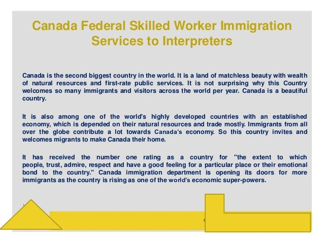 Canada federal skilled worker immigration services to interpreters by Gaurav Rana via slideshare