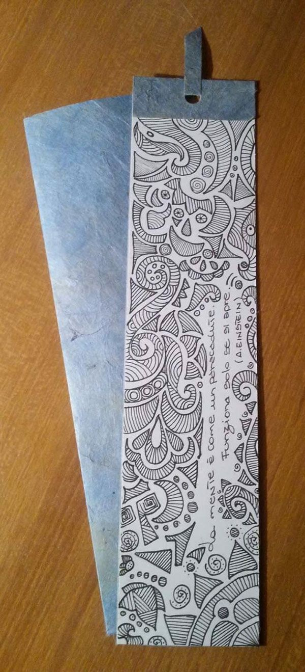 Watercolor bookmark patterns - Set Of Bookmarks Hand Drawn Zentangle Design